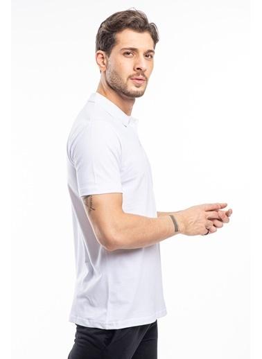 Slazenger Slazenger SOHO Erkek T-Shirt Hardal Beyaz